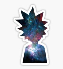 Rick and Morty Galaxy Design Sticker