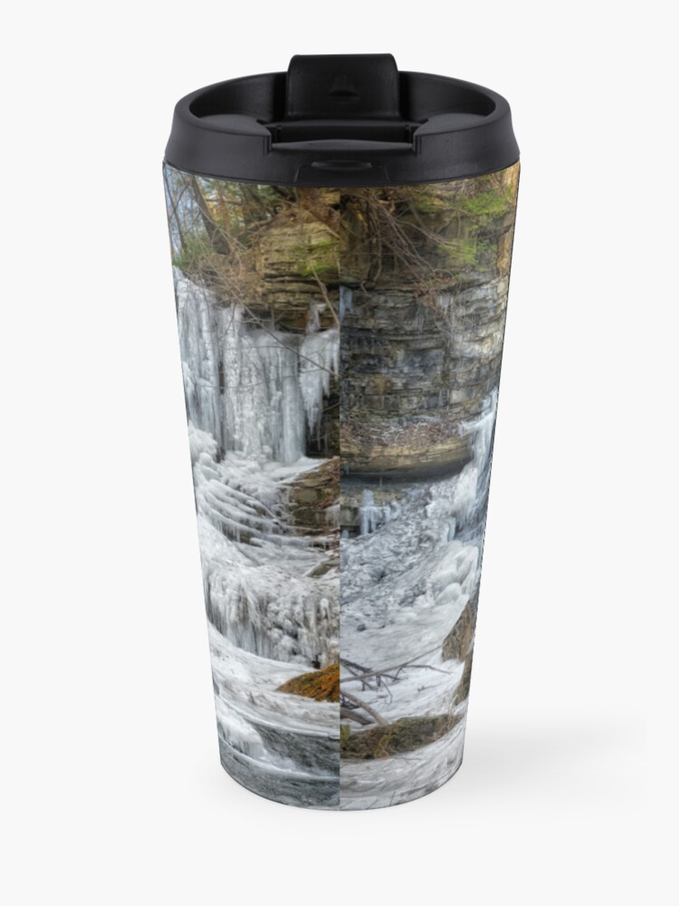 Alternate view of Melting waterfall Travel Mug
