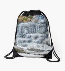 Melting waterfall Drawstring Bag