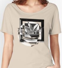 Contemporary Abstract : 3 : B & W Women's Relaxed Fit T-Shirt