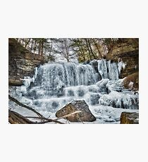 Melting waterfall Photographic Print