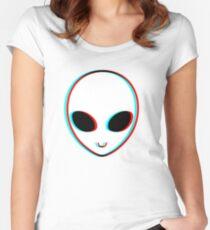 Camiseta entallada de cuello ancho Trippy Alien