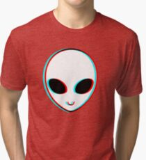 Trippy Alien Tri-blend T-Shirt