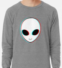 Trippy Alien Leichtes Sweatshirt