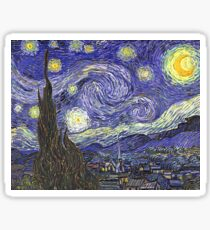 'Starry Night' by Vincent Van Gogh (Reproduction) Sticker