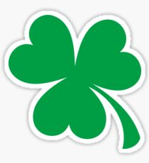 Green shamrock sticker Sticker