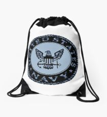 U.S. Navy Logo Digital Camo Drawstring Bag