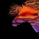Colorful Abstract Wild Horse Silhouette In Purple And Orange by Michelle Wrighton