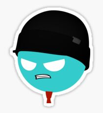 Pissed-Off Miketastic Face Sticker Sticker