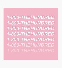 The 100 - The Hundred Hotline Bling Photographic Print