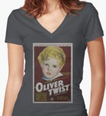 classic movie : Oliver Twist Women's Fitted V-Neck T-Shirt