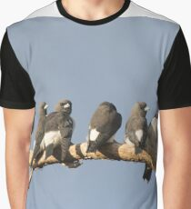 Sunset Wood-swallows Graphic T-Shirt