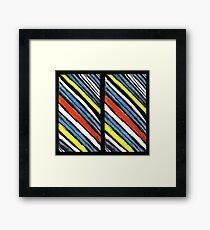 Colored Stripes Twin Framed Print
