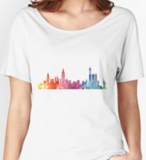 New York Colourful Skyline 2 Women's Relaxed Fit T-Shirt
