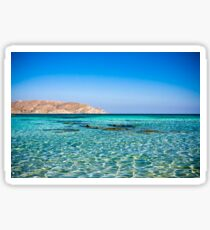 Amazing seascape on Crete Sticker