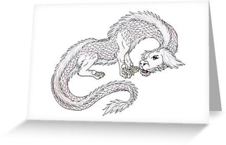 Tarjetas De Felicitación Falcor El Dragón De La Suerte De