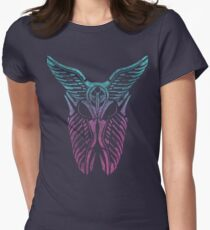 Shard Helm [ TURQUIOSE & PINK ] Womens Fitted T-Shirt