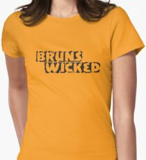BrunsWicked (black) Womens Fitted T-Shirt