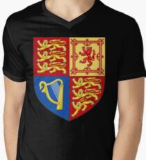 Arms of the United Kingdom Men's V-Neck T-Shirt