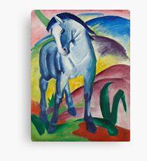 Franz Marc - Blue Horse  1911 German Expressionism.  Blue Horse . Franz Marc Canvas Print