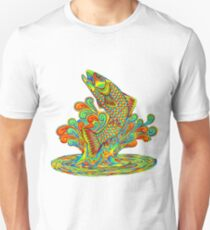 Psychedelic Rainbow Trout Fish T-Shirt
