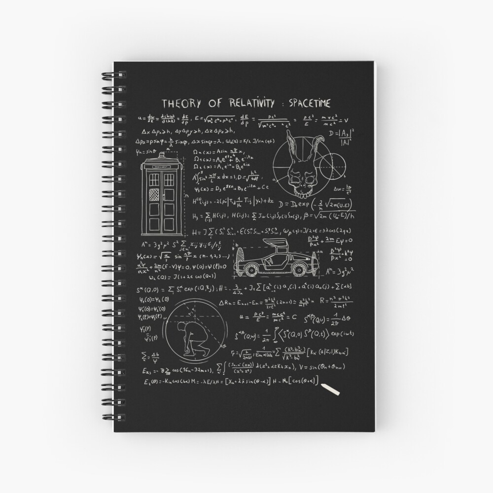 Theory of relativity : spacetime Spiral Notebook