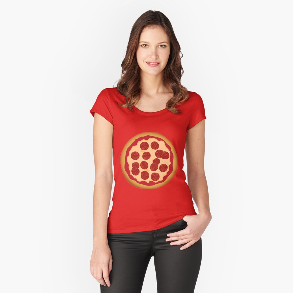 Pepperoni Pizza Fitted Scoop T-Shirt