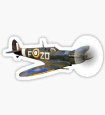 SPITFIRE, British, Airplane, Fighter, WWII, 1942, Spitfire VB, 222 Squadron, cut out Sticker
