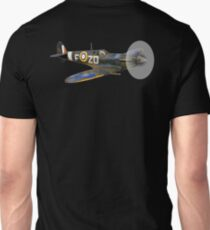 SPITFIRE, British, Airplane, Fighter, WWII, 1942, Spitfire VB, 222 Squadron, cut out Unisex T-Shirt