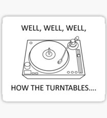 How the turntables Sticker