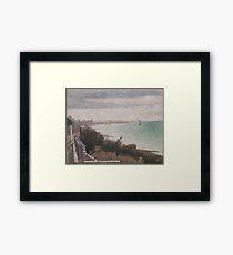 Georges Seurat  - Grandcamp, Evening 1885 Framed Print