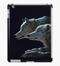 Two Gray Wolves Portrait iPad Case/Skin