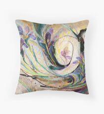 The Splash Of Life 19. Irises Throw Pillow