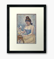 Georges Seurat  - Young Woman Powdering Herself 1889 Framed Print