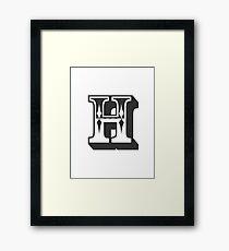 H Initial, Letter, Alphabet Framed Print