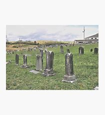 """'""""THE CEMETERY, a Series', No. 3, The Overview""""... prints and products Photographic Print"""