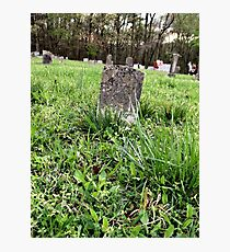 """'""""THE CEMETERY, a Series', No. 4, A Lone Stone""""... prints and products Photographic Print"""