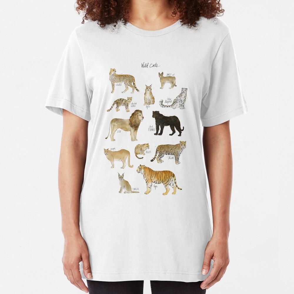Wild Cats Slim Fit T-Shirt