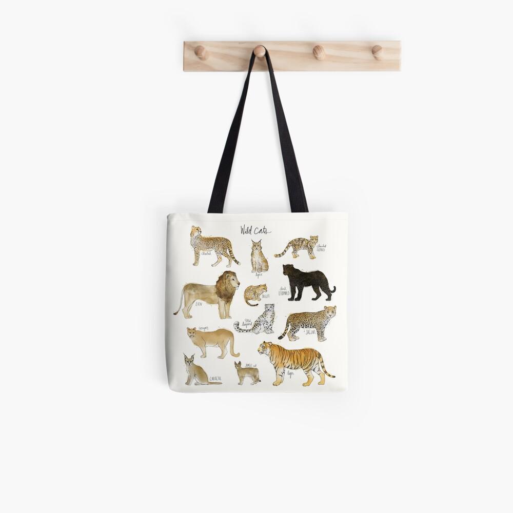 Wilde Katzen Tote Bag