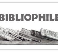 Bibliophile: Books in Pencil: Book Lover, Drawing Sticker