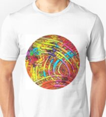 Colorful Round Shakti Abstract Painting Design Unisex T-Shirt
