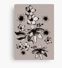 Dusty flowers Canvas Print