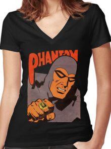 Phantom #10/redesign Women's Fitted V-Neck T-Shirt