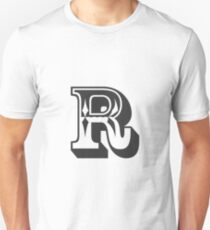 R Initial, Letter, Alphabet Unisex T-Shirt