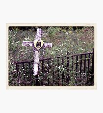 """'""""THE CEMETERY, a Series', No. 11, Over the Fence""""... prints and products Photographic Print"""