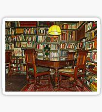 My lair full of books Sticker