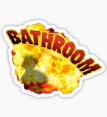 BATHROOM!!! Sticker