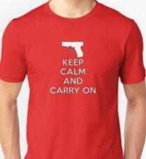 Keep Calm and Carry On Semi Unisex T-Shirt