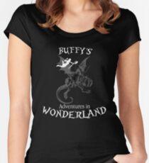 Buffy's  Adventures in Wonderland II Women's Fitted Scoop T-Shirt