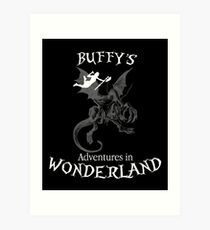 Buffy's  Adventures in Wonderland II Art Print
